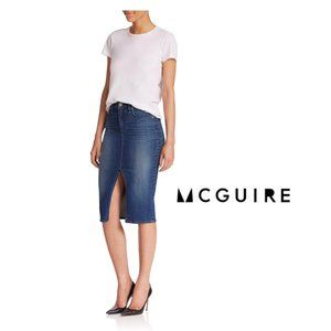 NEW McGuire Blue Marino Jean Denim Pencil Skirt